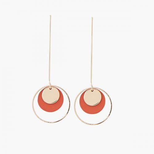 Boucles d'oreilles pendantes oranges Lima