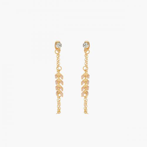 Boucles d'oreilles pendantes roses Basic Nude
