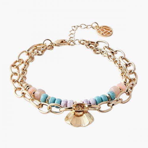 Bracelet 2 rangs à pétale doré Capsule mode