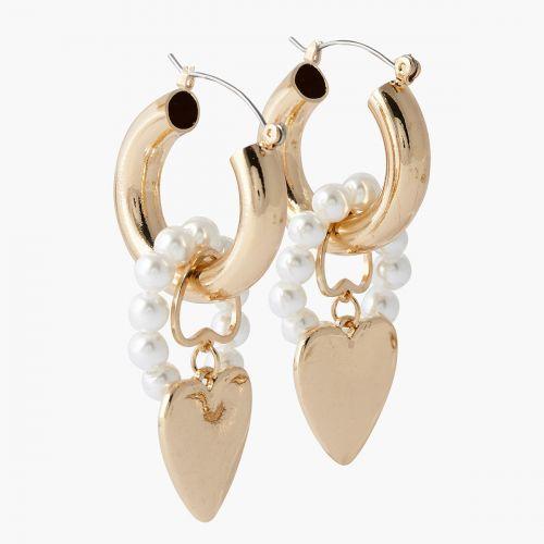 Boucles d'oreilles coeurs dorées Capsule mode