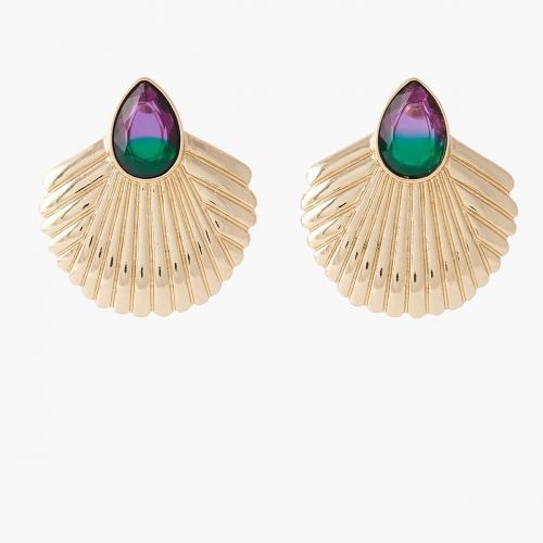 Boucles d'oreilles coquillages dorées Capsule mode