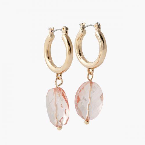 Mini créoles pierre rose Capsule mode