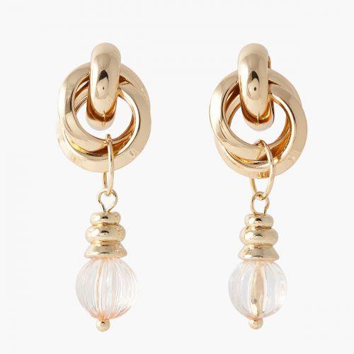 Boucles d'oreilles pendantes grises/dorées Capsule mode