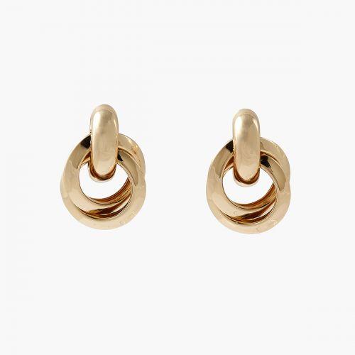 Boucles d'oreilles double anneau dorées Capsule mode