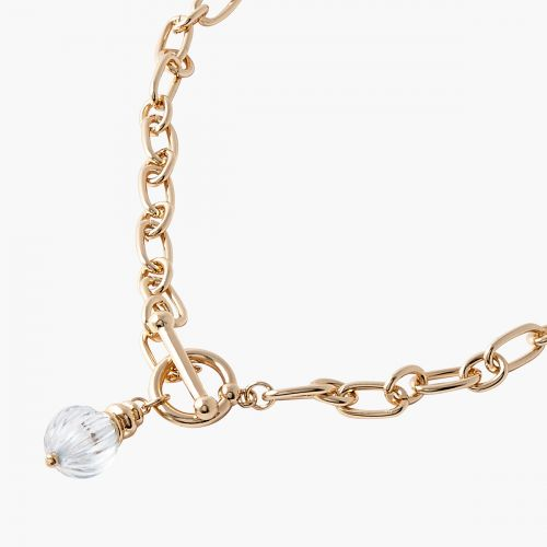 Collier fermoir et boule doré Capsule mode