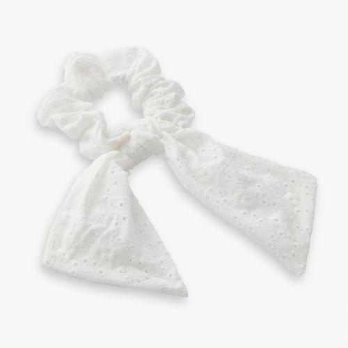 Chouchou foulard blanc