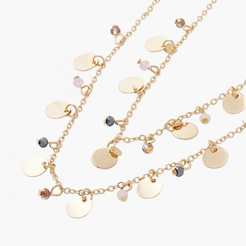 Collier Multirangs doré Monterey