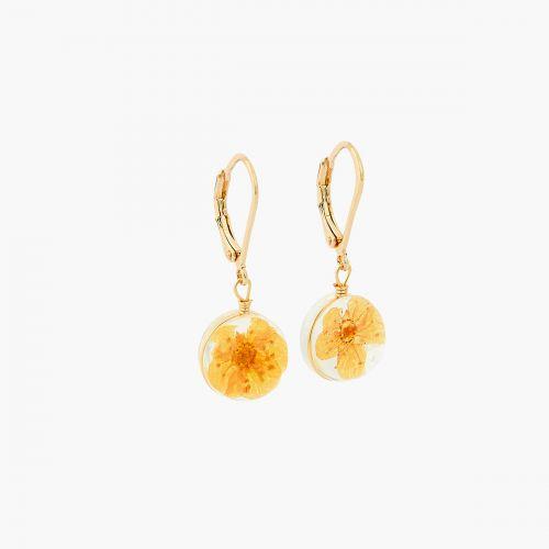 Boucles d'oreilles pendantes oranges Prairie