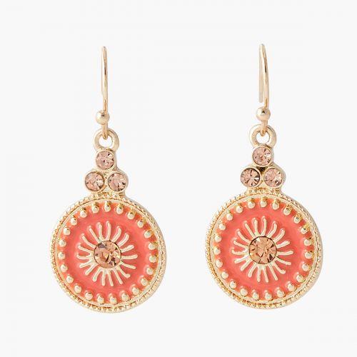 Boucles d'oreilles pendantes roses Monterey