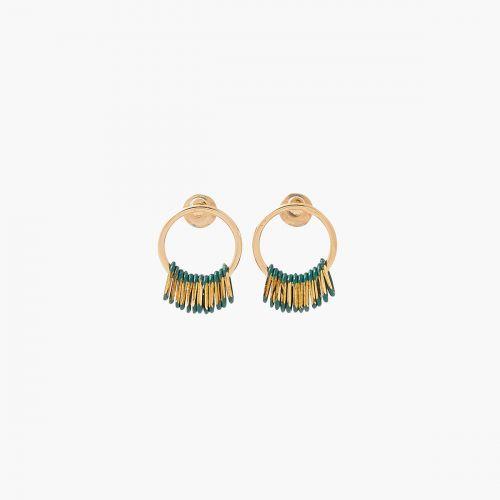 Boucles d'oreilles pendantes dorées Connemara