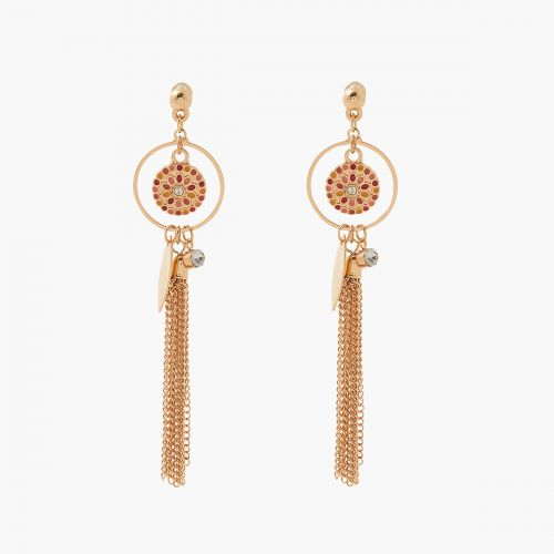 Boucles d'oreilles pendantes dorées Monterey