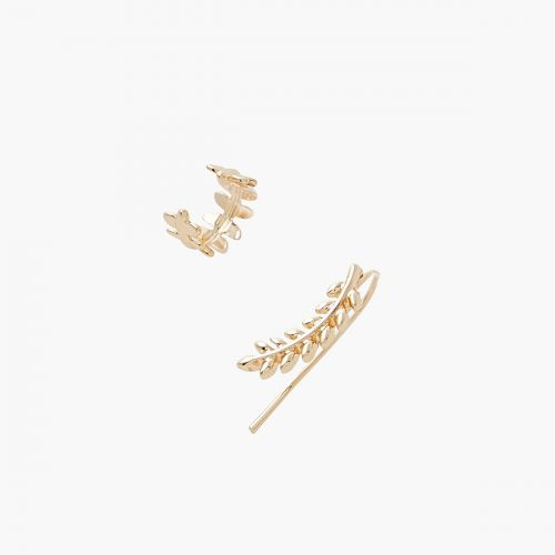 Set de bijoux d'oreilles doré Prairie