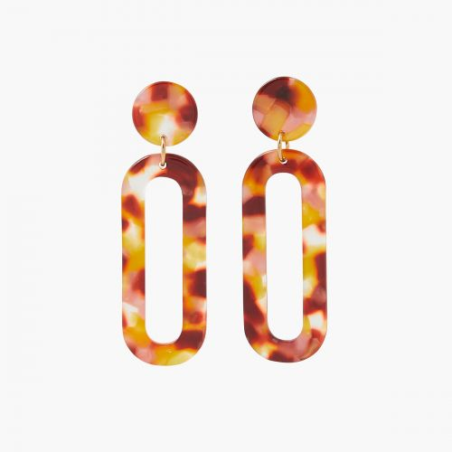 Boucles d'oreilles pendantes marrons Monterey