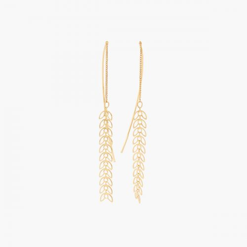 Boucles d'oreilles pendantes dorées Prairie