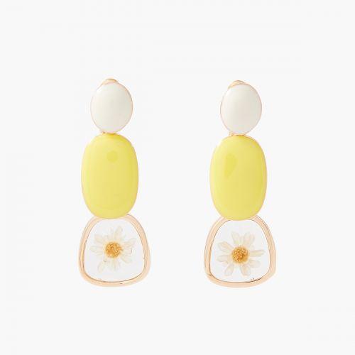 Boucles d'oreilles pendantes jaunes Prairie