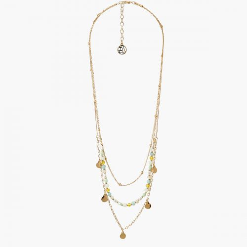 Collier multirangs pampilles et perles Connemara
