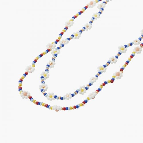 Collier 2 rangs multicolore Prairie