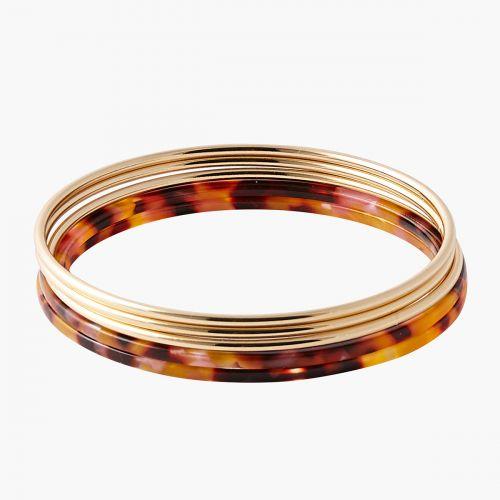 Set de 5 bracelets métal/acrylique Monterey