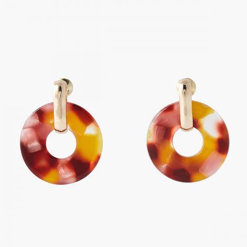 Petites créoles anneaux effet marbre Monterey