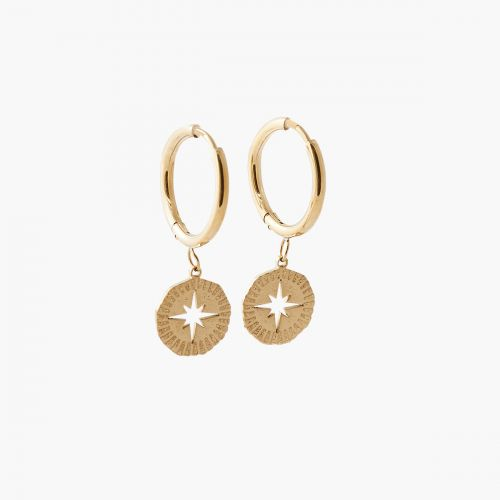 Mini créoles étoiles dorées steel Power