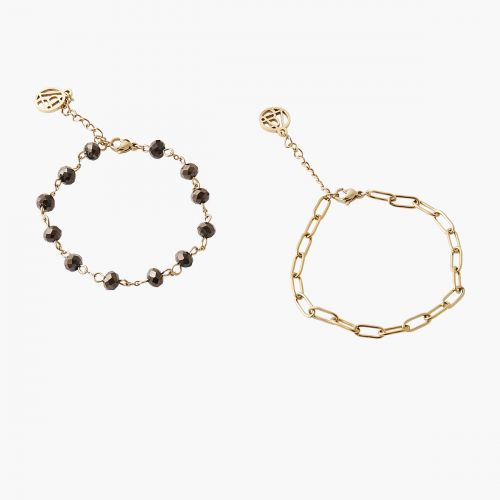 Set de bracelets gris Acier Inoxydable