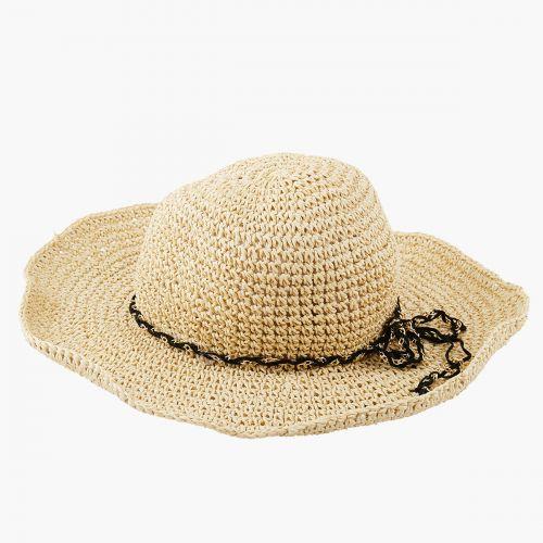 Chapeau souple effet paille