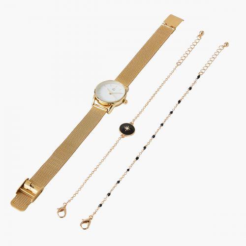 Coffret montre/bracelets doré City chic