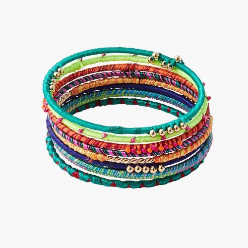 Set de bracelets doré Graphic nomade