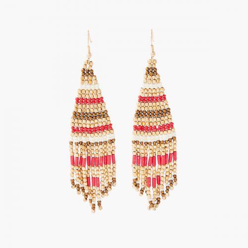Boucles d'oreilles pendantes rouges Désert Rouge