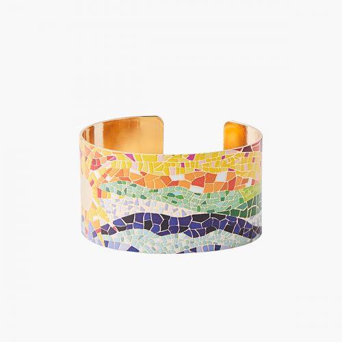 Manchette imprimée mosaïque Gaudi