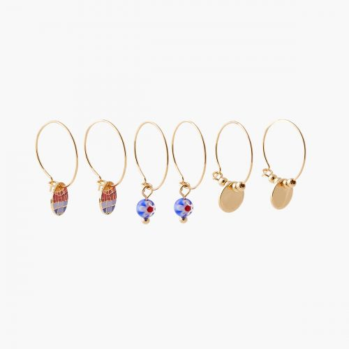 Set de créoles multicolore Gaudi