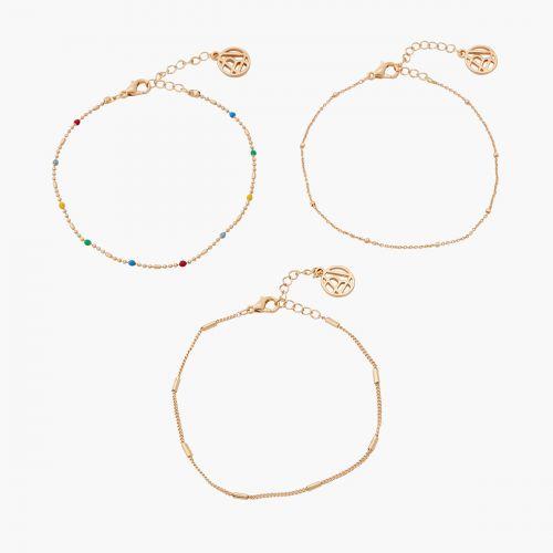 Set de bracelets doré Gaudi