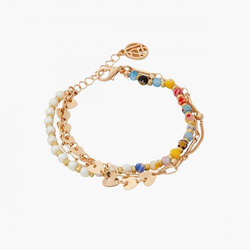 Bracelet perles d'imitation et multicolores Gaudi
