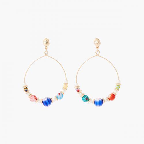 Boucles d'oreilles perles de verre Gaudi