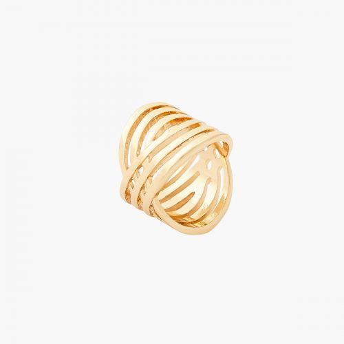 Bague 6 rangs dorée Gaudi