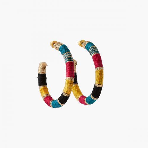 Créoles épaisses fils multicolores Graphic nomade