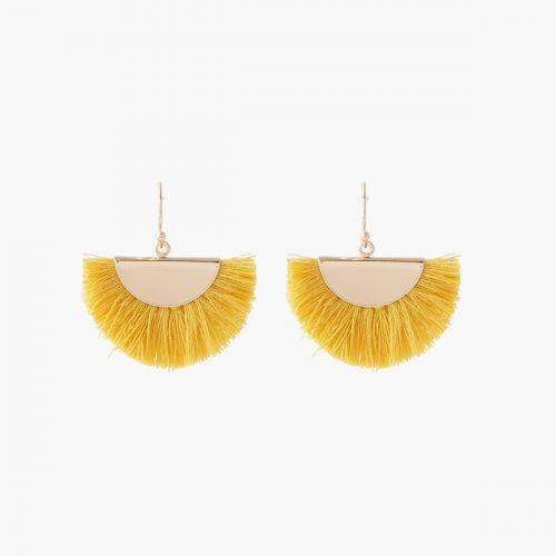 Boucles d'oreilles pendantes dorées Graphic nomade