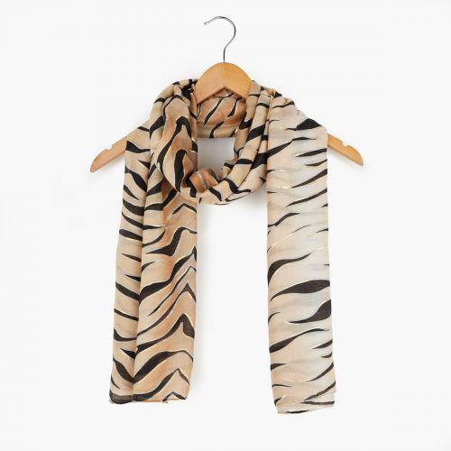 Foulard imprimé tigre