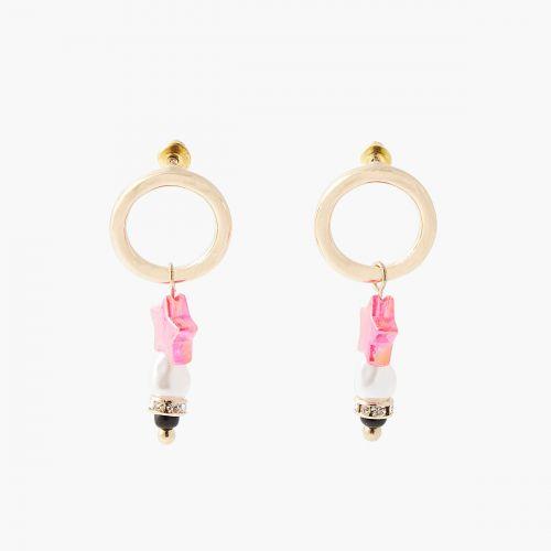 Boucles d'oreilles pendantes dorées Trendy touch