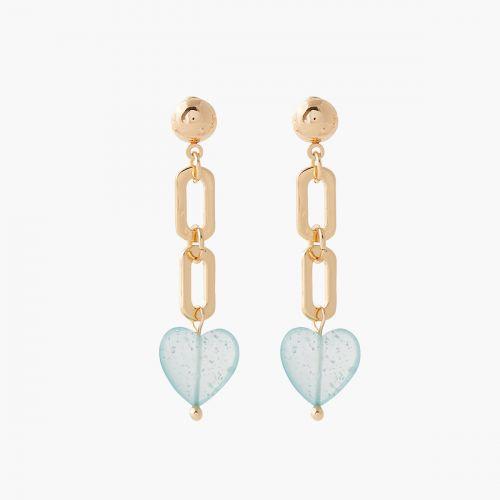 Boucles d'oreilles coeurs bleus Trendy touch