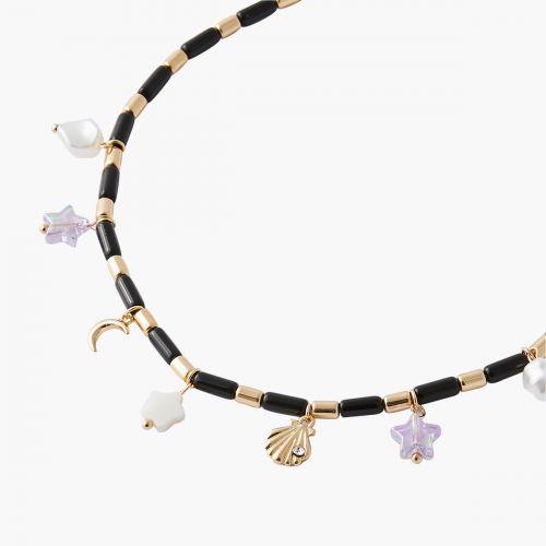 Collier médailles et perles Trendy touch
