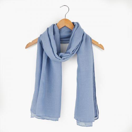 Foulard bleu à paillettes