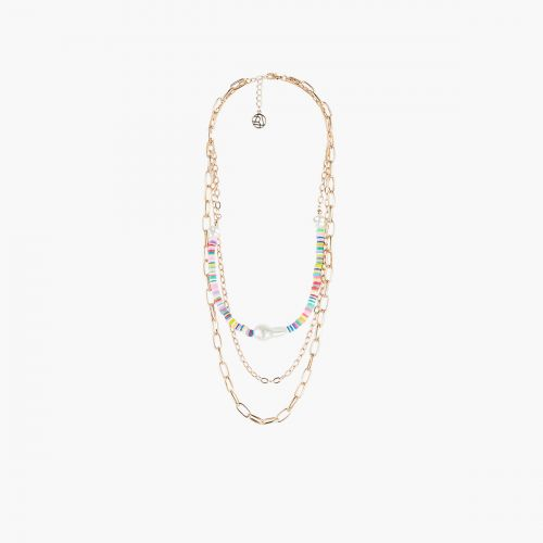 Collier Multirangs perles multicolores Goodies