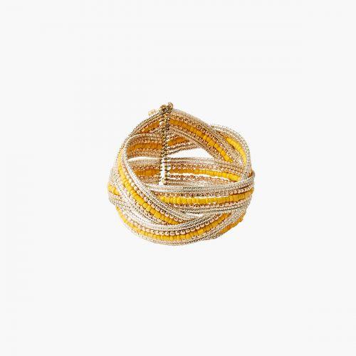 Manchette perles jaunes it touch