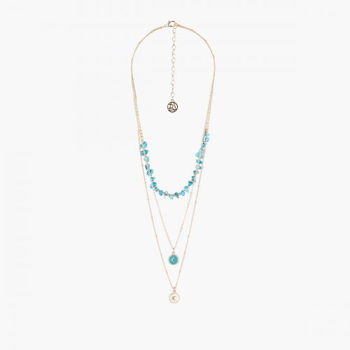 Collier Multirangs pierres bleues Blue mood