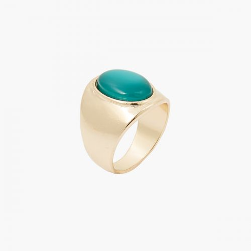 Grosse bague verte Colorfull