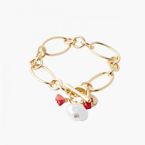 Bracelet doré Coral shell