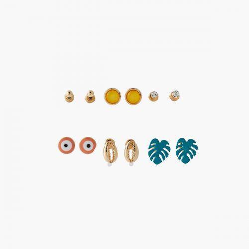 Set de puces d'oreilles fantaisie Colorfull