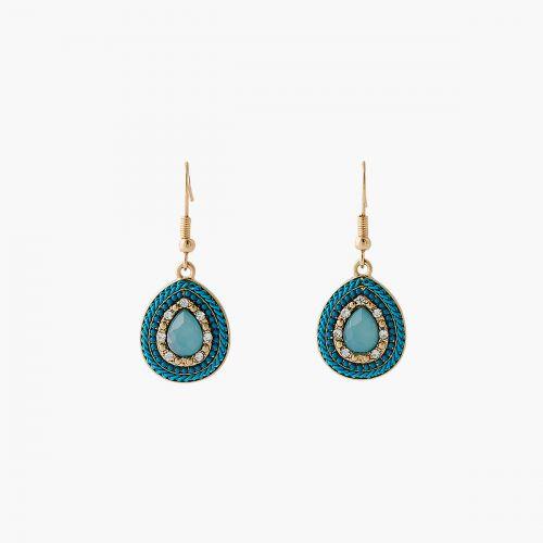 Boucles d'oreilles pendantes bleues Blue mood