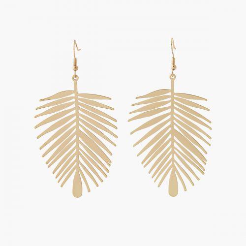 Boucles d'oreilles feuilles dorées Colorfull